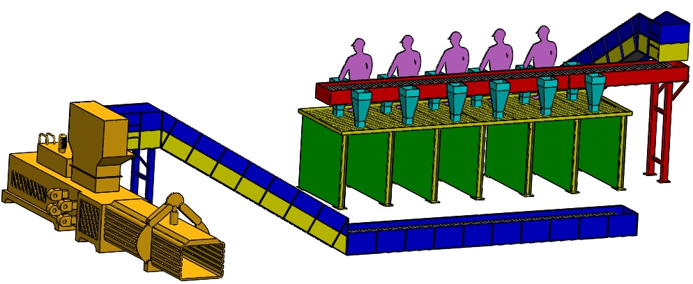 Steel Slat Conveyors Assembly